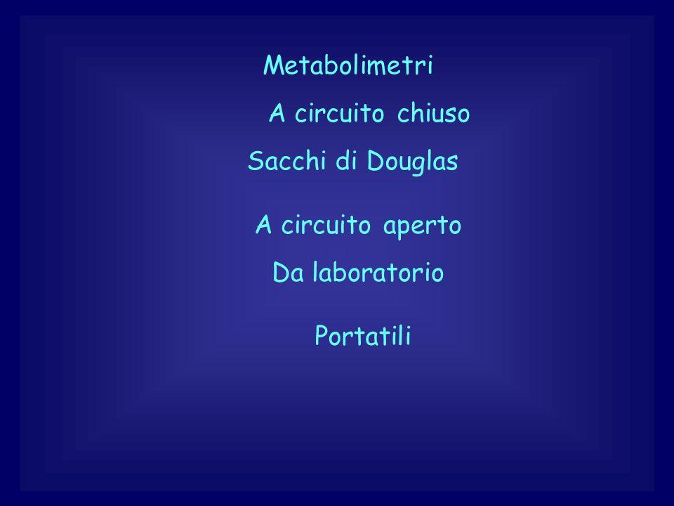 Metabolimetri A circuito chiuso A circuito aperto Da laboratorio Portatili Sacchi di Douglas