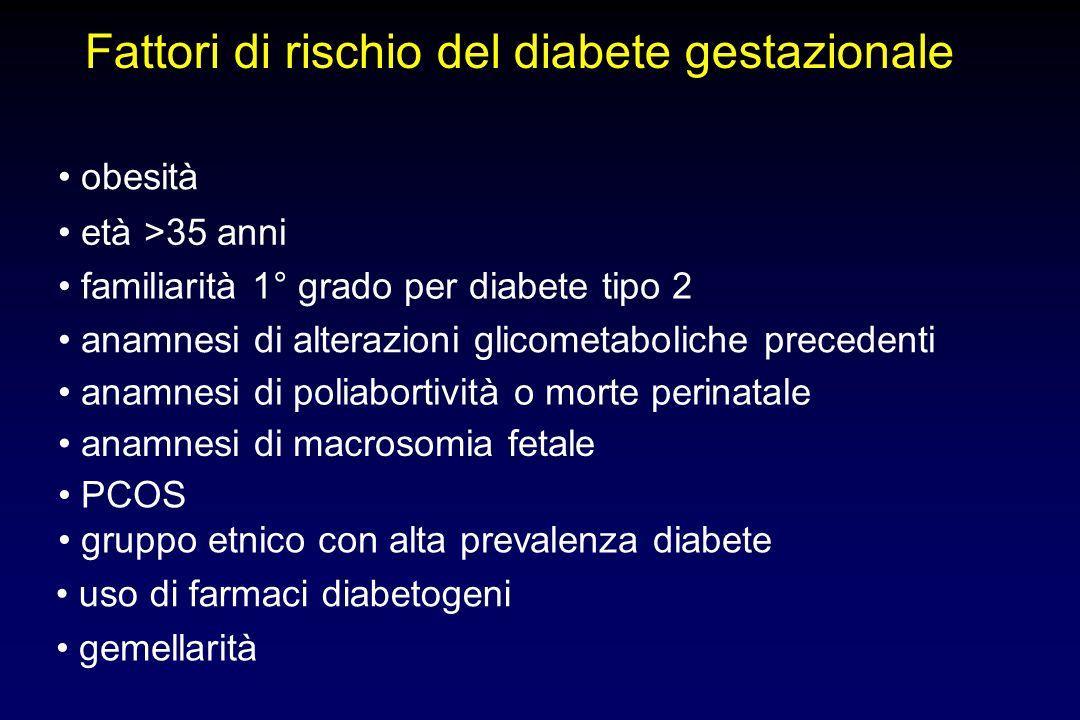 Strumenti per la terapia del diabete gestazionale Stile di vita (dieta + esercizio) Insulina