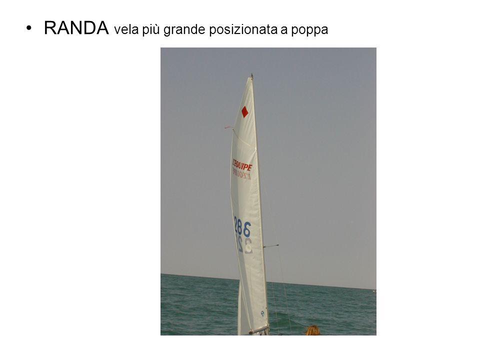 RANDA vela più grande posizionata a poppa