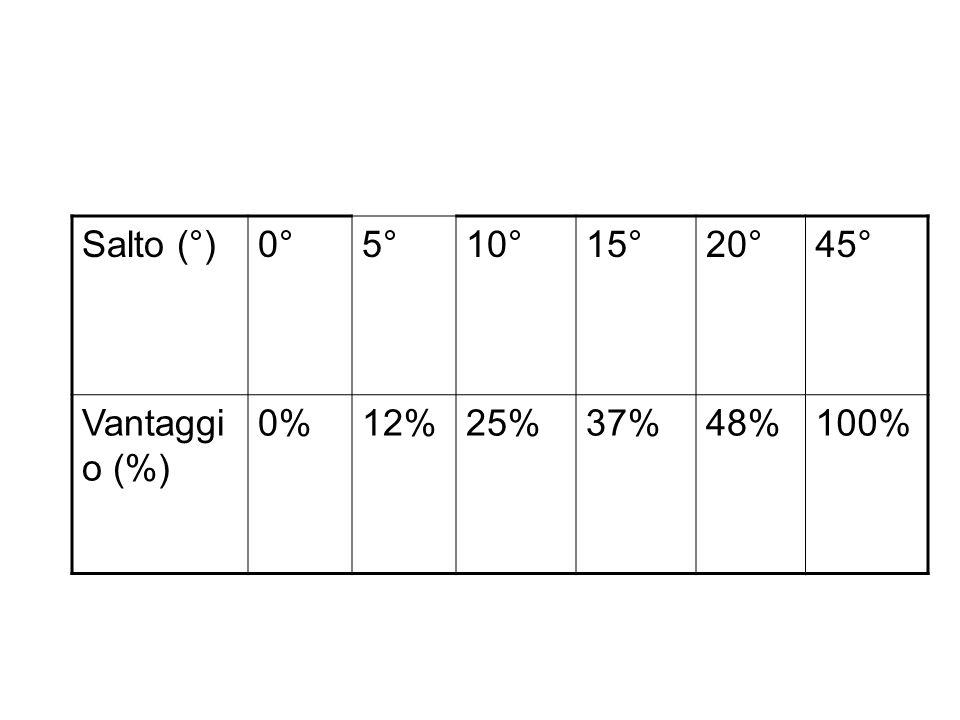Tattica di bolina Salti di vento: quanto si guadagna? 60 m -10° 15 m