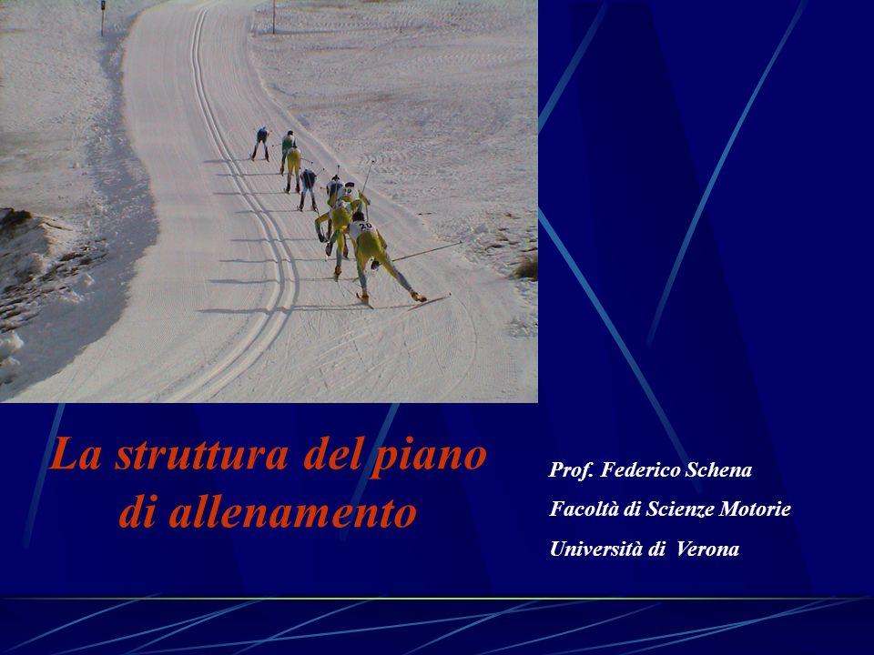 La struttura del piano di allenamento Prof. Federico Schena Facoltà di Scienze Motorie Università di Verona