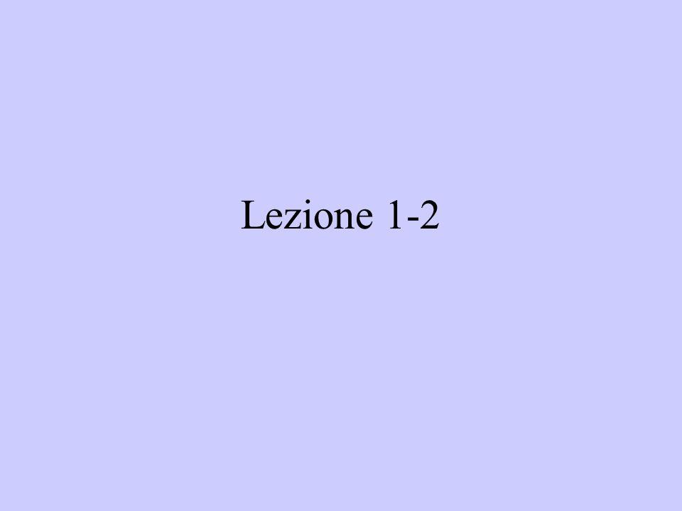 Lezione 1-2