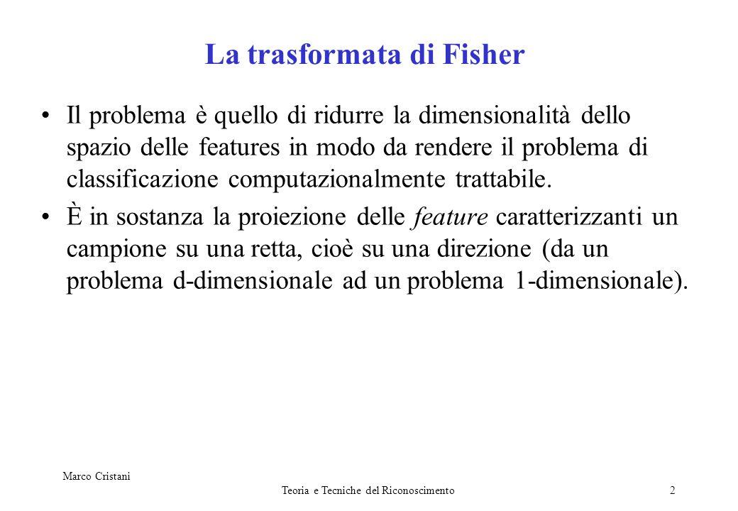 Marco Cristani Teoria e Tecniche del Riconoscimento3