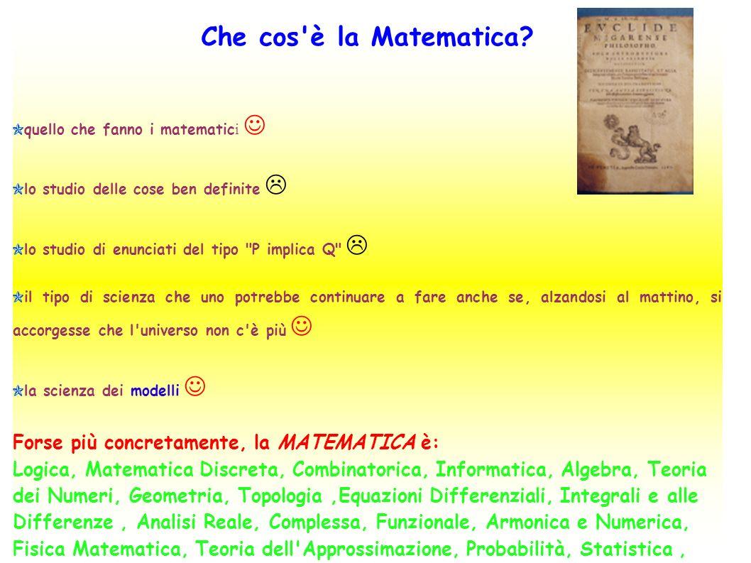 Che cos è la Matematica.
