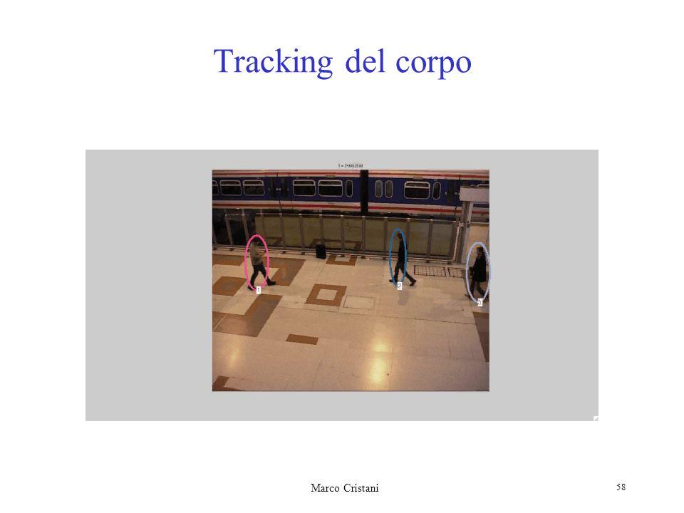 Marco Cristani 58 Tracking del corpo