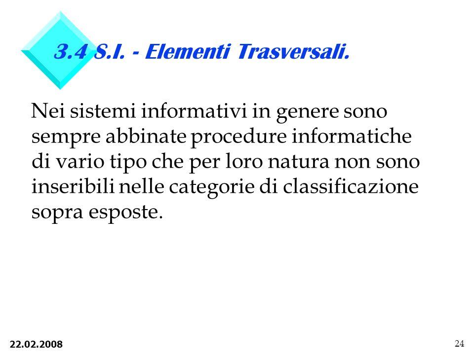 22.02.2008 24 3.4 S.I.- Elementi Trasversali.