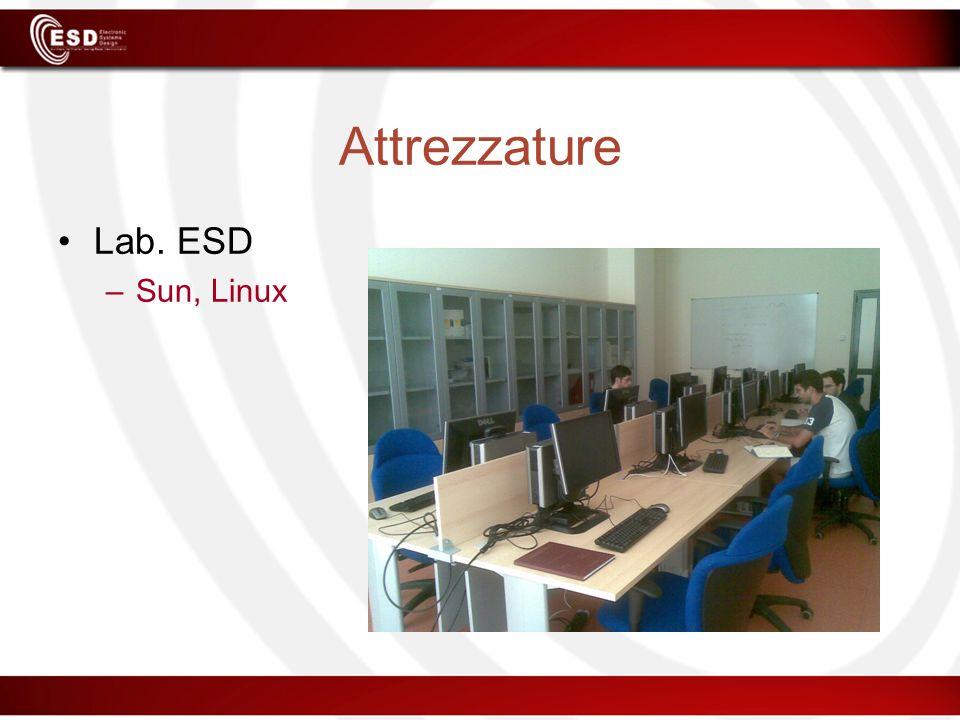 Attrezzature Lab. ESD –Sun, Linux