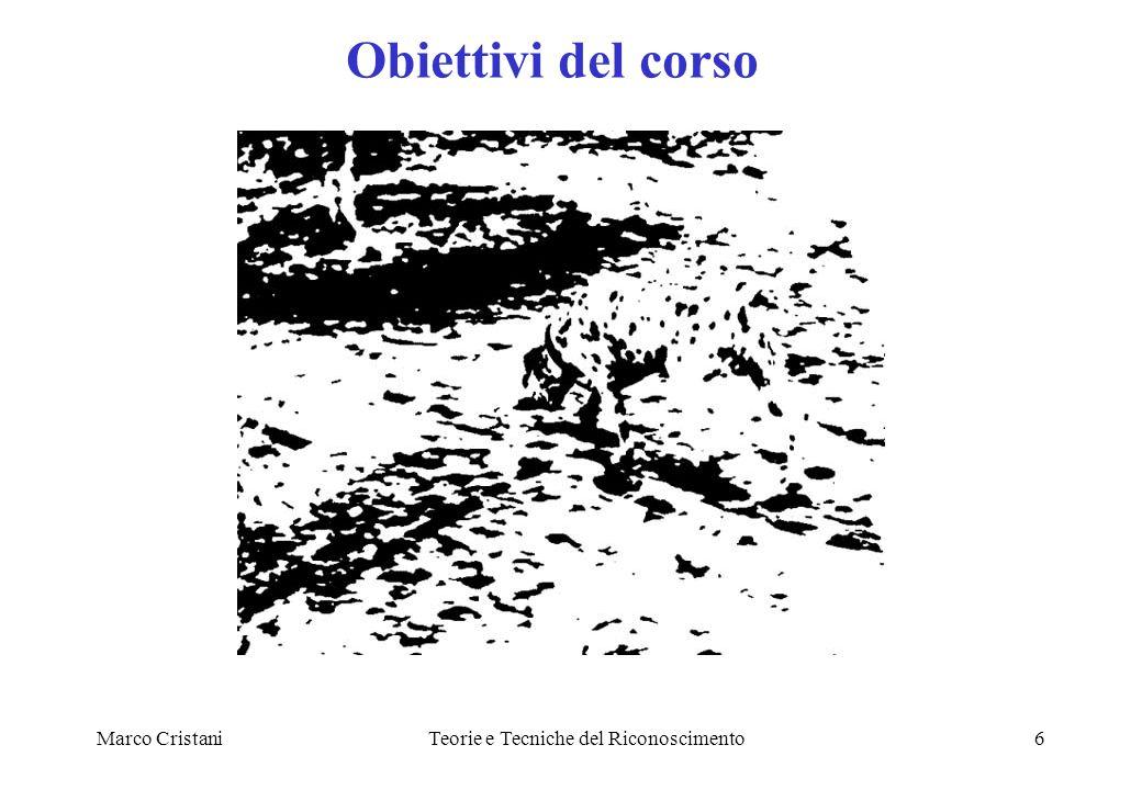 Marco CristaniTeorie e Tecniche del Riconoscimento6 Obiettivi del corso