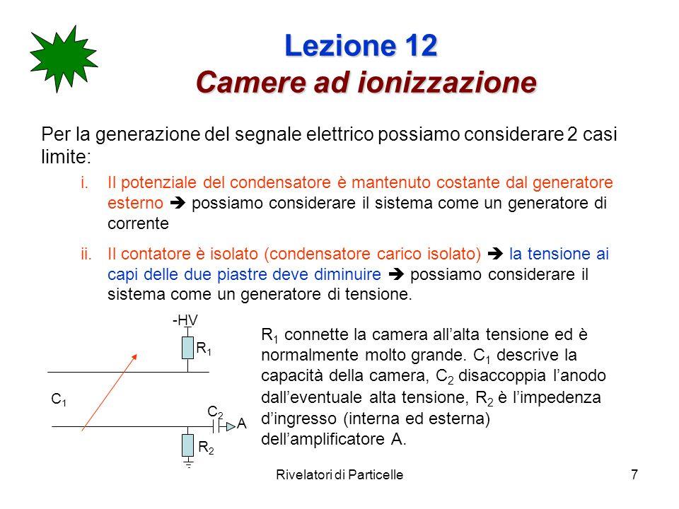 Rivelatori di Particelle28 Lezione 12 Contatori Streamer Nei contatori Geiger abbiamo approssimativamente 90% Argon e 10% Isobutano (quencing).