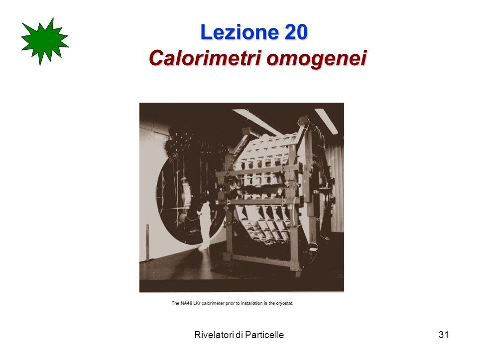 Rivelatori di Particelle31 Lezione 20 Calorimetri omogenei