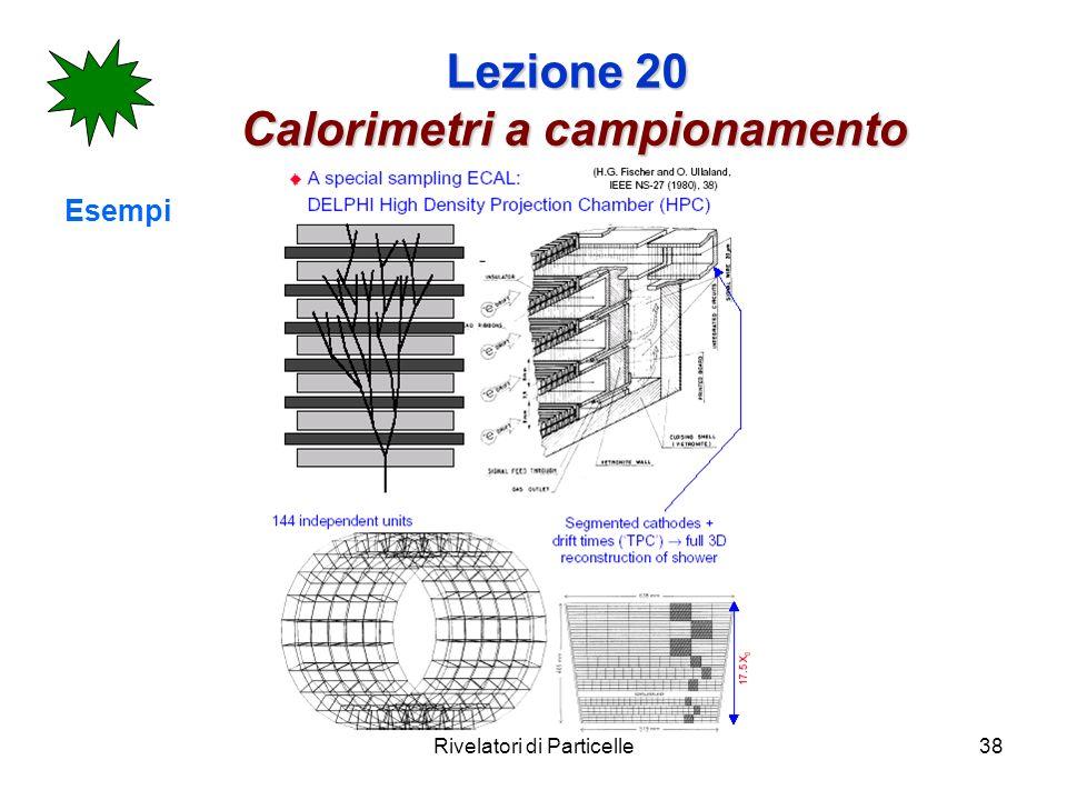 Rivelatori di Particelle38 Lezione 20 Calorimetri a campionamento Esempi