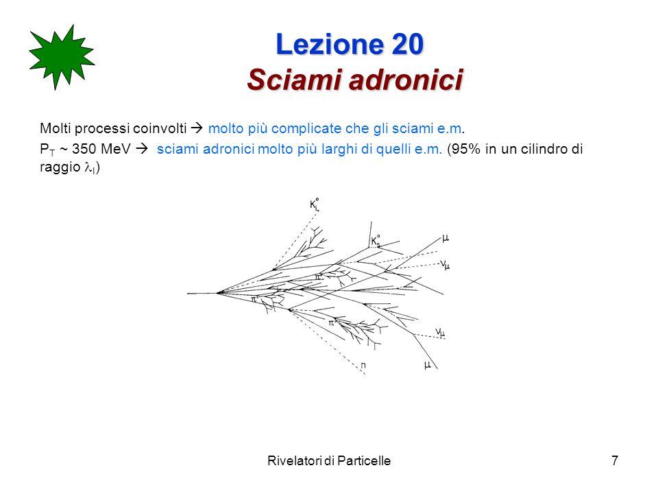 Rivelatori di Particelle28 Lezione 20 Calorimetri omogenei Esempio: Calorimetro e.m.