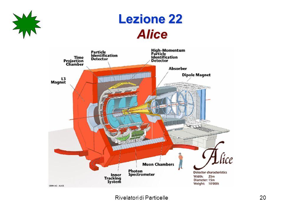 Rivelatori di Particelle20 Lezione 22 Alice