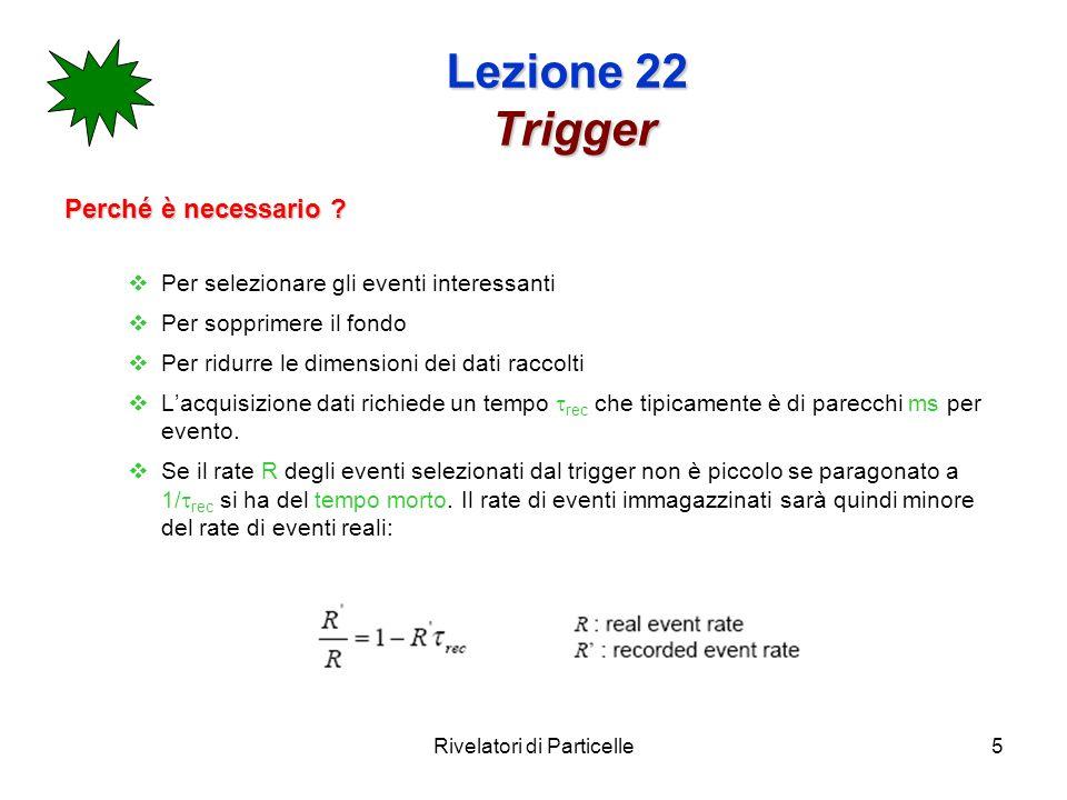 Rivelatori di Particelle5 Lezione 22 Trigger Perché è necessario .