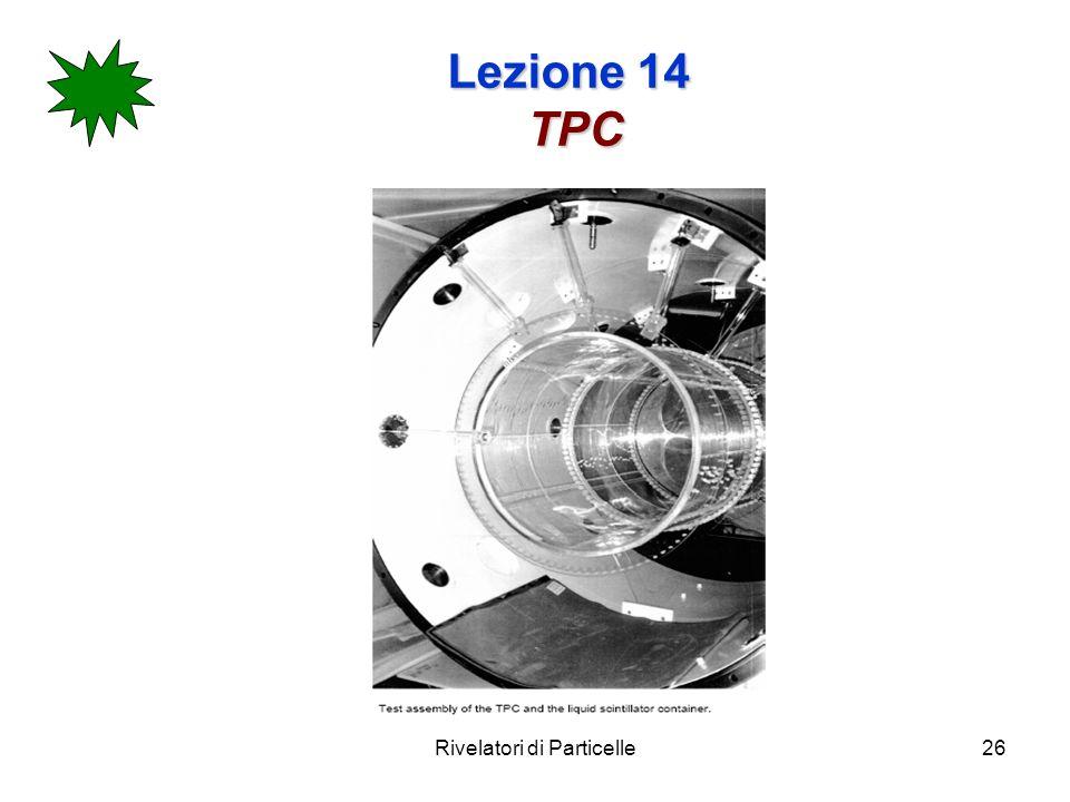 Rivelatori di Particelle26 Lezione 14 TPC