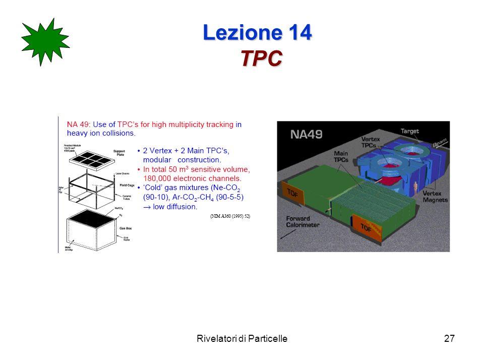 Rivelatori di Particelle27 Lezione 14 TPC