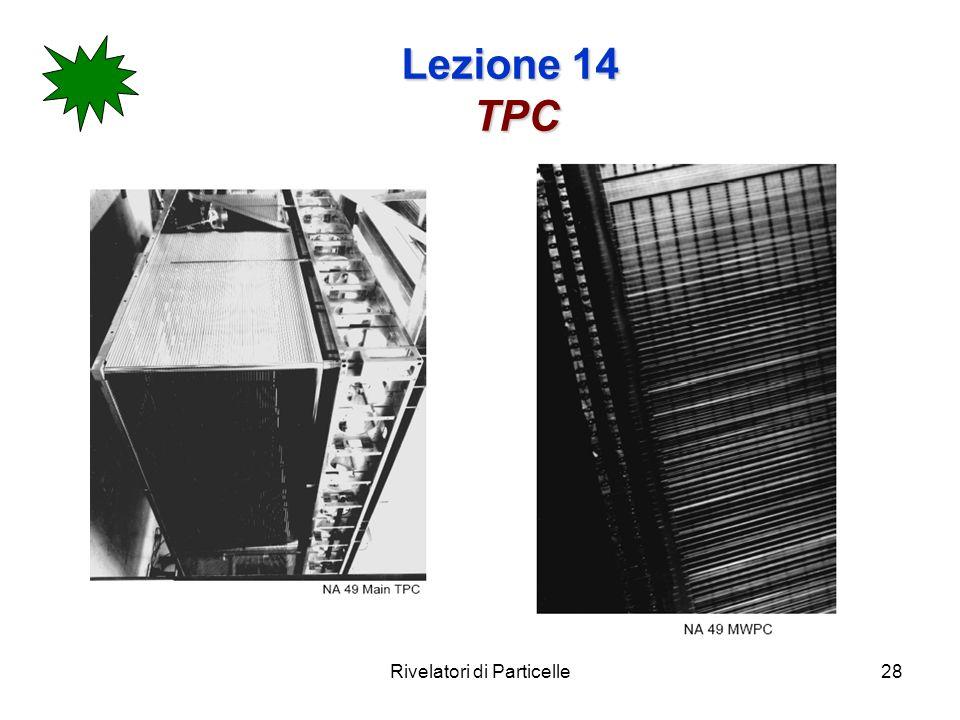 Rivelatori di Particelle28 Lezione 14 TPC