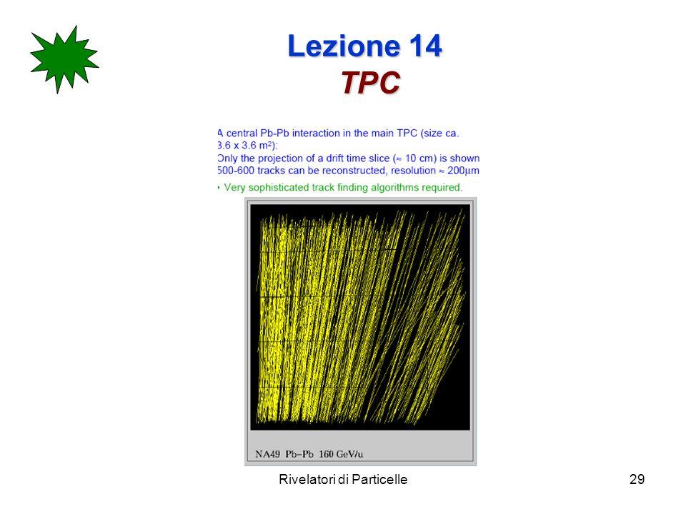Rivelatori di Particelle29 Lezione 14 TPC