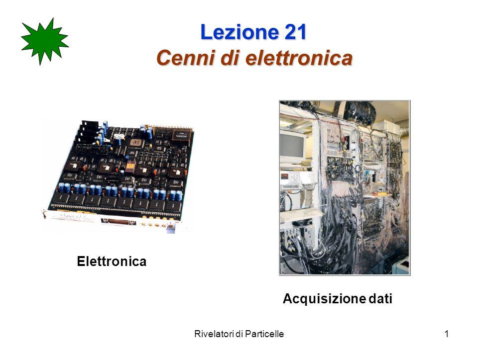Rivelatori di Particelle12 Lezione 21 Amplificatori di voltaggio Si usa un amplificatore in voltaggio quando lapparato ha una capacità C det grande quindi in grado di integrare la carica rilasciata e convertirla in un segnale in voltaggio V i =Q/ C det.