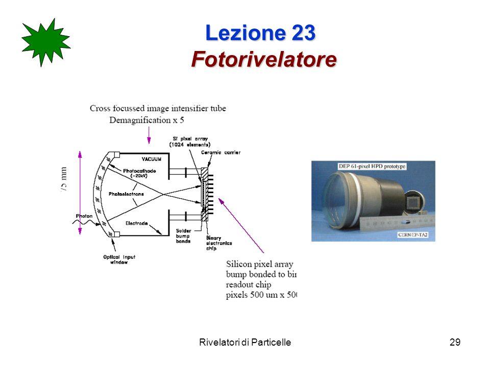 Rivelatori di Particelle29 Lezione 23 Fotorivelatore