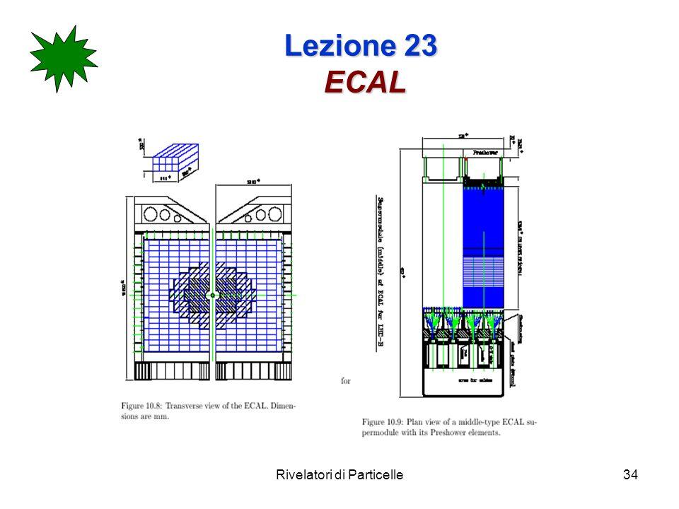 Rivelatori di Particelle34 Lezione 23 ECAL