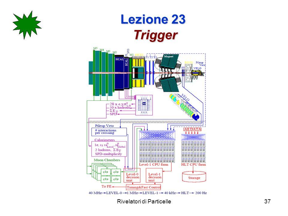 Rivelatori di Particelle37 Lezione 23 Trigger