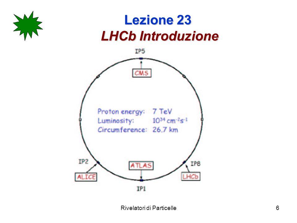 Rivelatori di Particelle6 Lezione 23 LHCb Introduzione