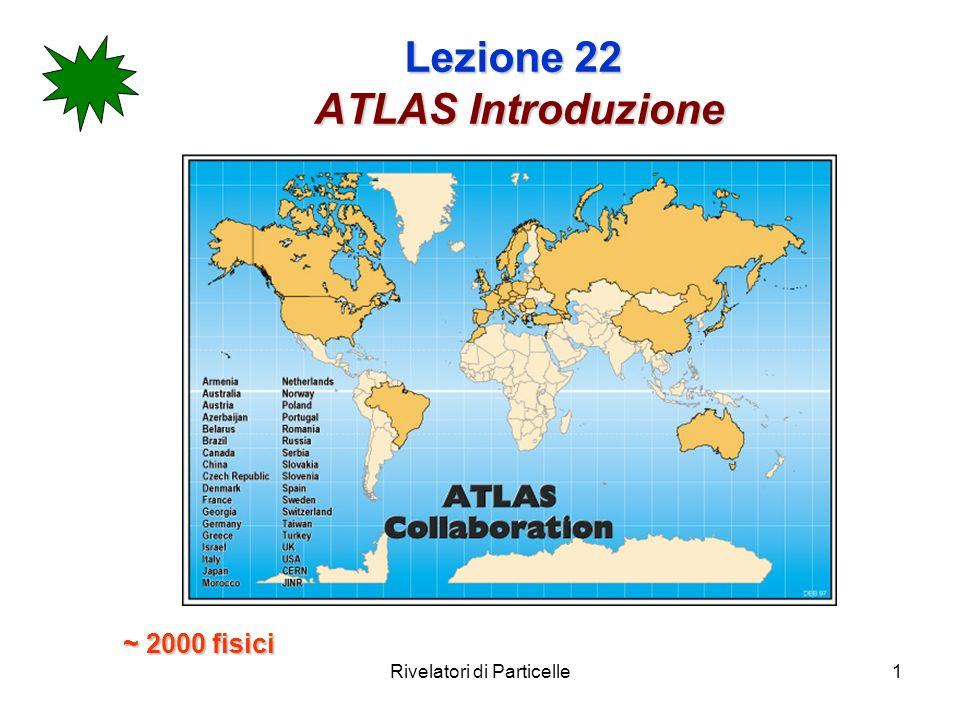 Rivelatori di Particelle12 Lezione 22 ATLAS lapparato tracking detector Beam pipe calorimetro adronico calorimetro e.m.