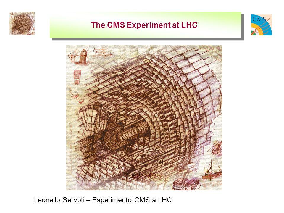 Leonello Servoli – Esperimento CMS a LHC The CMS Experiment at LHC