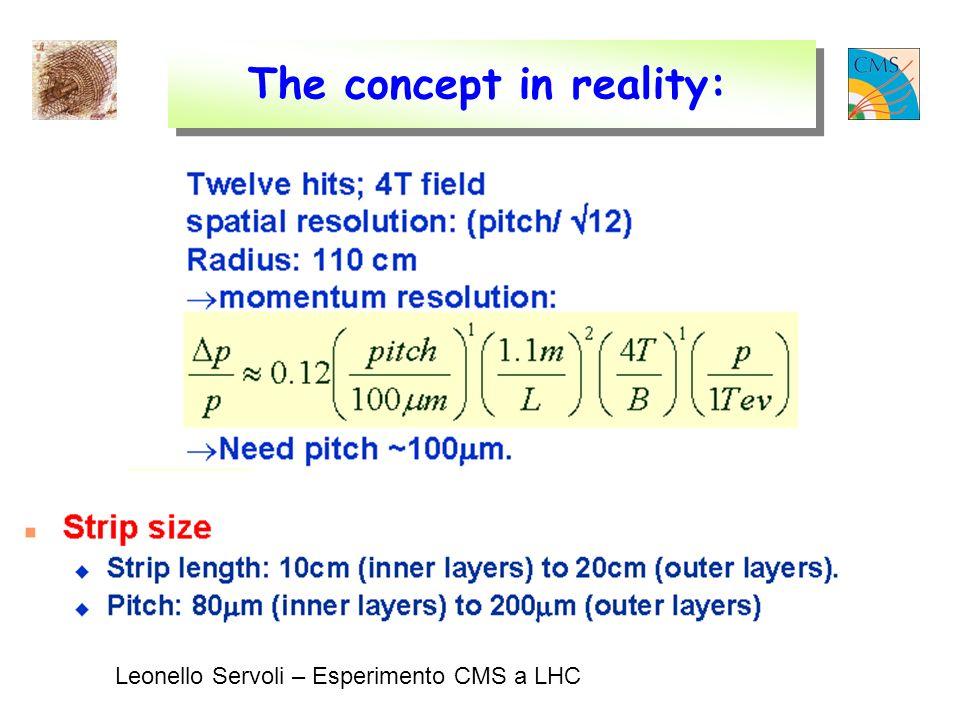 Leonello Servoli – Esperimento CMS a LHC The concept in reality: