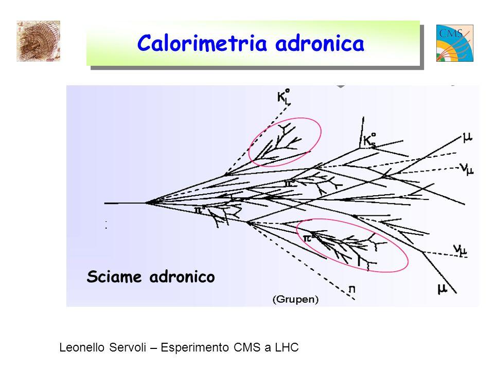 Leonello Servoli – Esperimento CMS a LHC Calorimetria adronica Sciame adronico