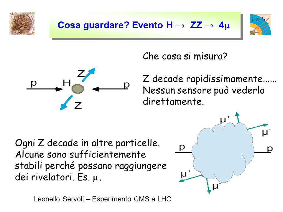 Leonello Servoli – Esperimento CMS a LHC Cosa guardare.