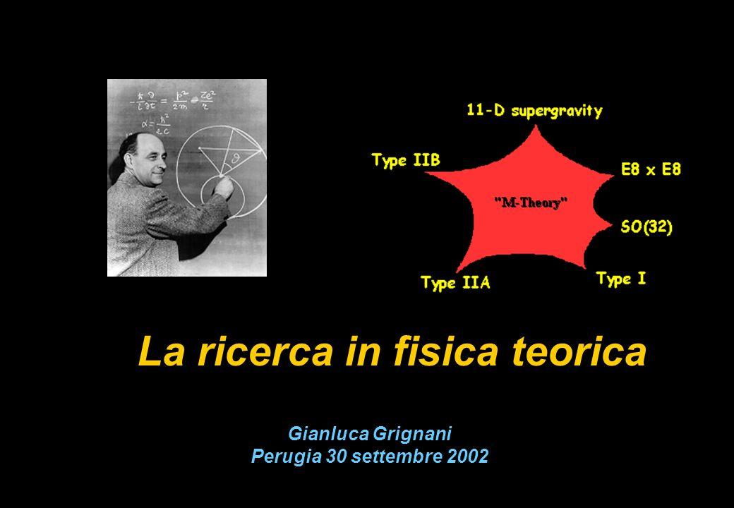 Gianluca Grignani Perugia 30 settembre 2002 La ricerca in fisica teorica