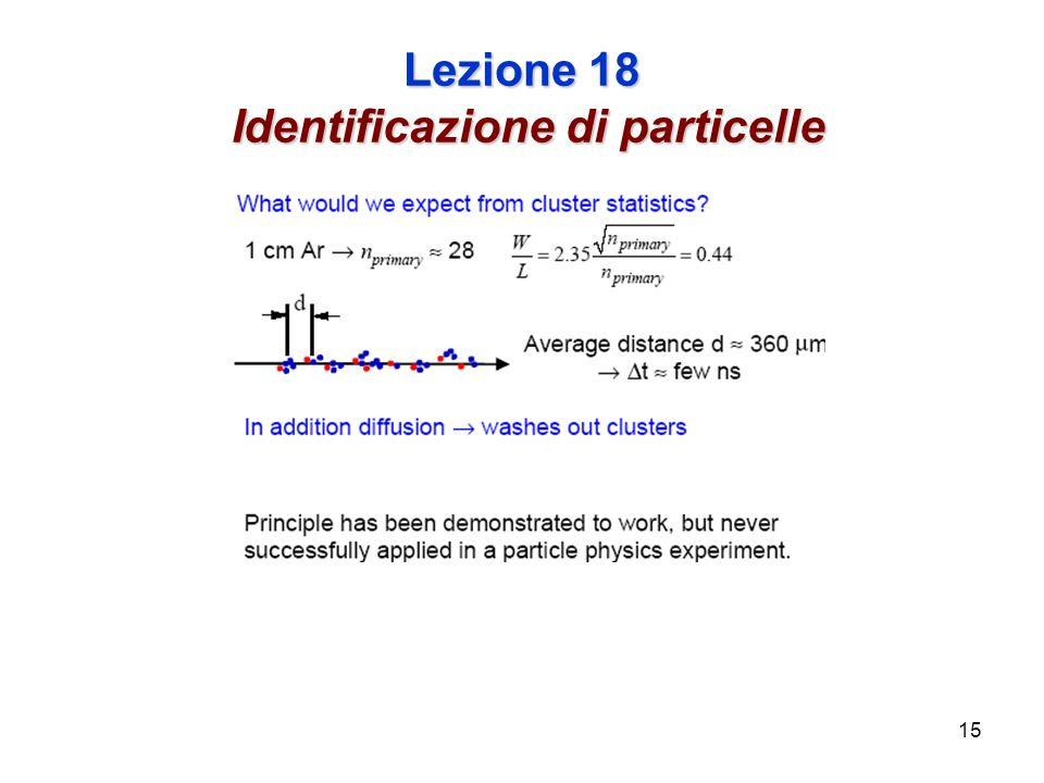 15 Lezione 18 Identificazione di particelle