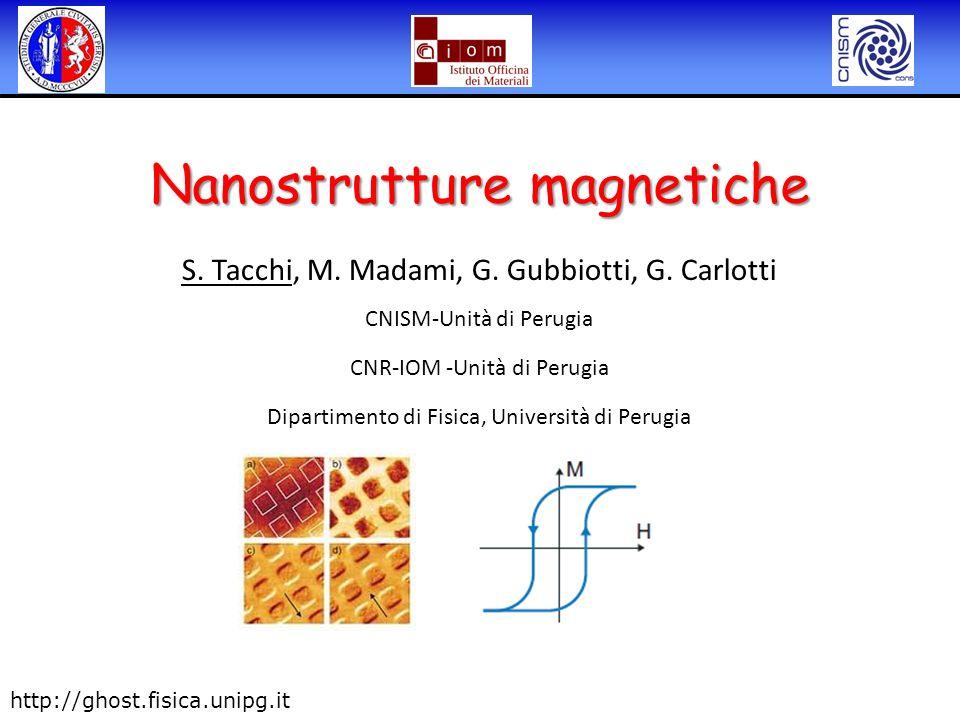 S. Tacchi, M. Madami, G. Gubbiotti, G. Carlotti CNISM-Unità di Perugia CNR-IOM -Unità di Perugia Dipartimento di Fisica, Università di Perugia Nanostr