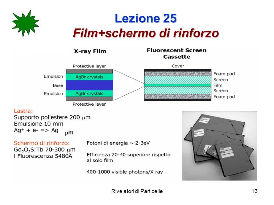 Rivelatori di Particelle13 Lezione 25 Film+schermo di rinforzo