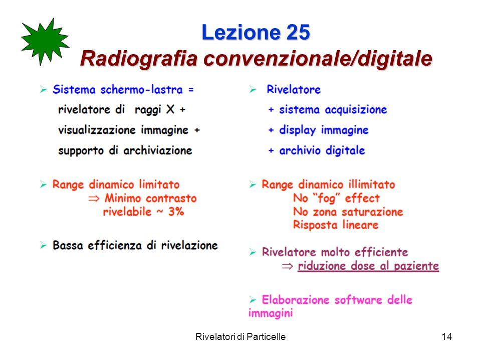 Rivelatori di Particelle14 Lezione 25 Radiografia convenzionale/digitale