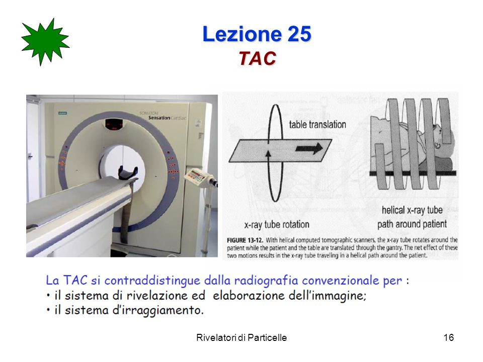 Rivelatori di Particelle16 Lezione 25 TAC