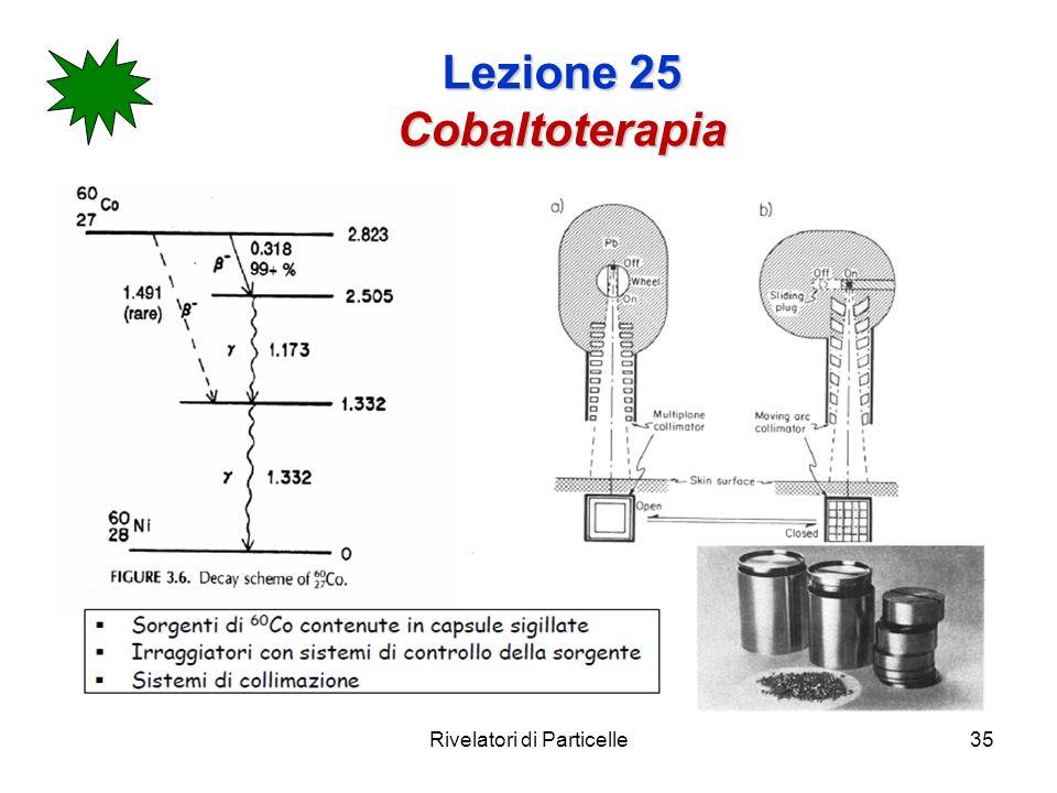 Rivelatori di Particelle35 Lezione 25 Cobaltoterapia