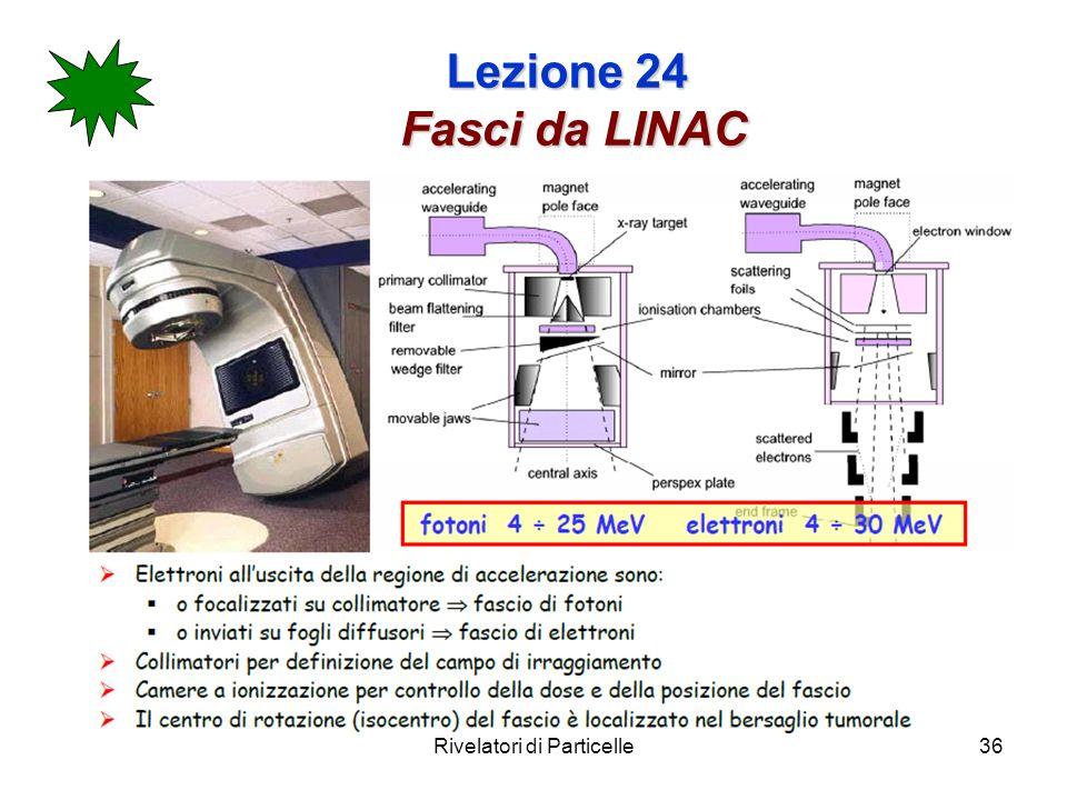 Rivelatori di Particelle36 Lezione 24 Fasci da LINAC