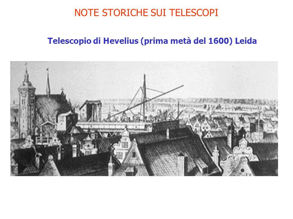 NOTE STORICHE SUI TELESCOPI Telescopio di Hevelius (prima metà del 1600) Leida