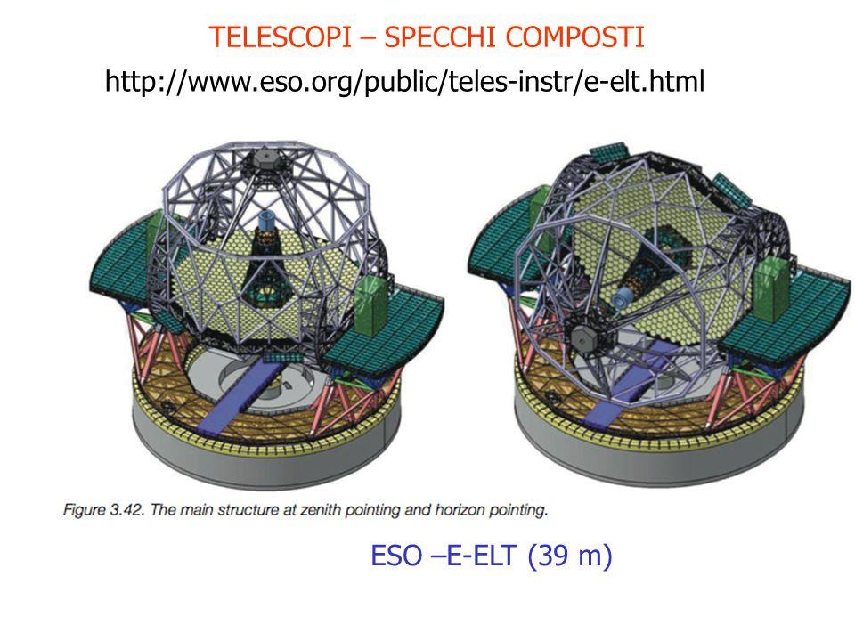TELESCOPI – SPECCHI COMPOSTI ESO –E-ELT (39 m) http://www.eso.org/public/teles-instr/e-elt.html