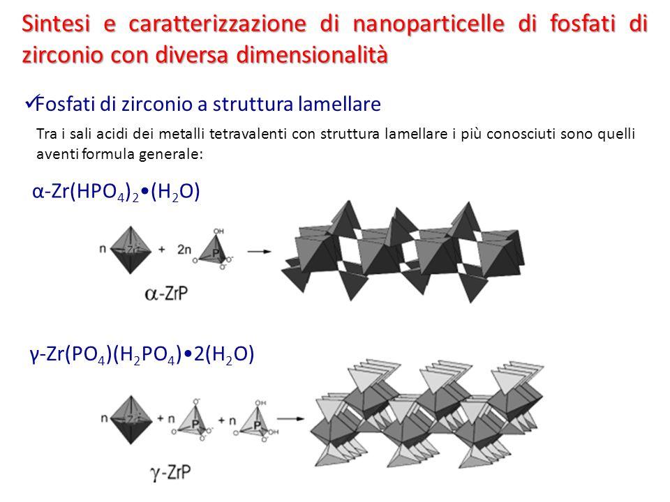 Tra i sali acidi dei metalli tetravalenti con struttura lamellare i più conosciuti sono quelli aventi formula generale: Sintesi e caratterizzazione di