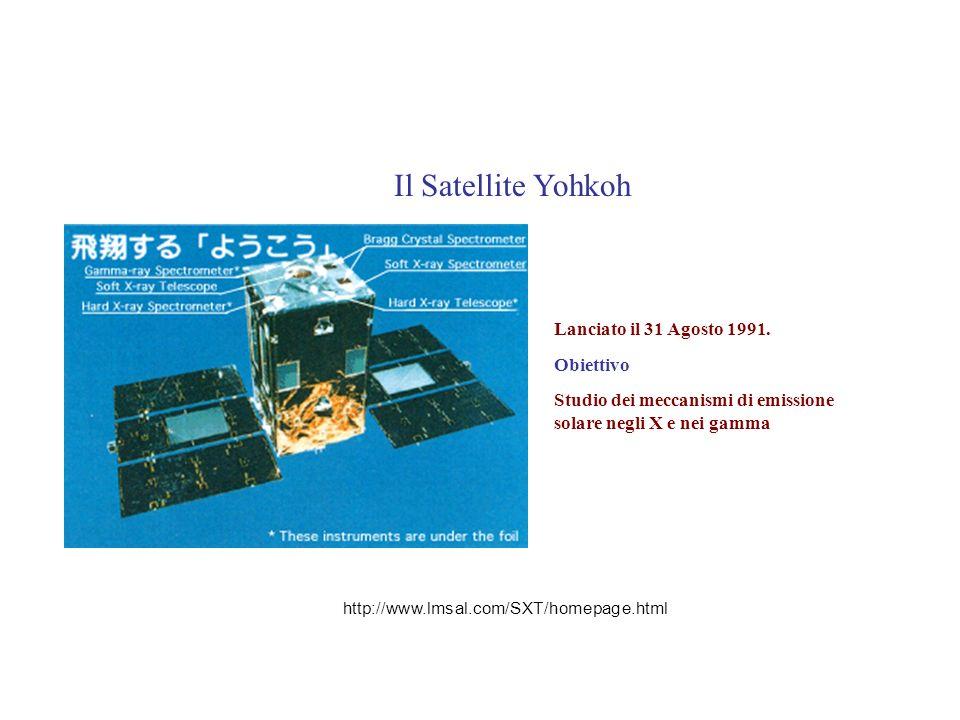 Lanciato il 31 Agosto 1991. Obiettivo Studio dei meccanismi di emissione solare negli X e nei gamma Il Satellite Yohkoh http://www.lmsal.com/SXT/homep