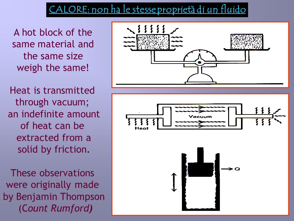 6 Esperienza di James Prescott Joule: lavoro e calore a)b) By transformating various forms of energy into heat inside a calorimeter (an adiabatic container), Joule showed that: the same amount of heat appeared in the system when the same amount of any form of energy was dissipated.
