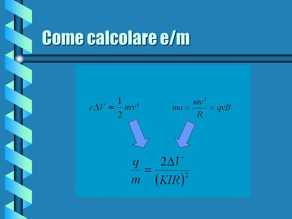 Come calcolare e/m