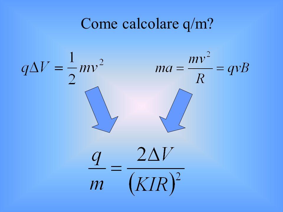 Come calcolare q/m?