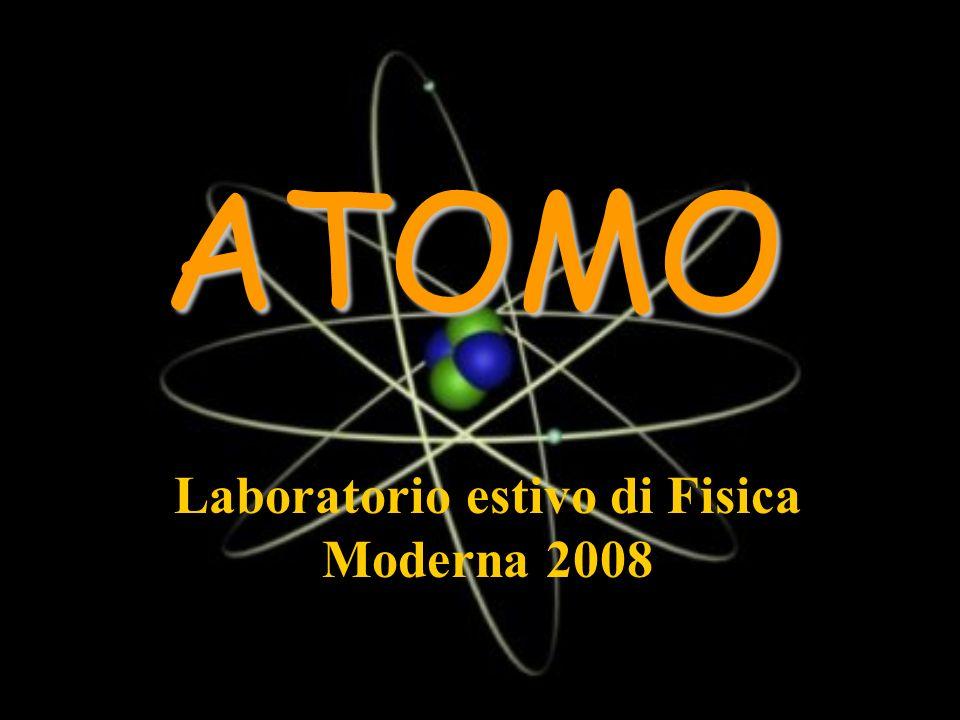ATOMO Laboratorio estivo di Fisica Moderna 2008