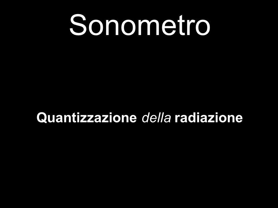 Sonometro Quantizzazione della radiazione