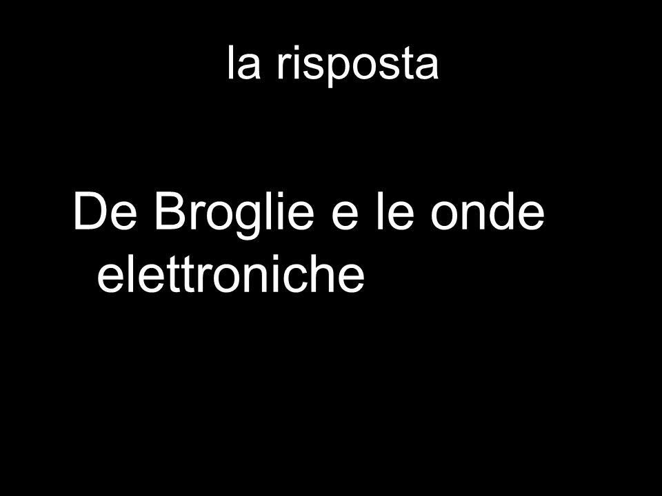 la risposta De Broglie e le onde elettroniche
